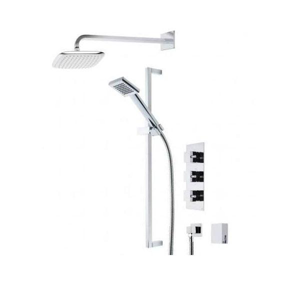 Roper Rhodes Event Square Triple Function Shower Set SVSET19