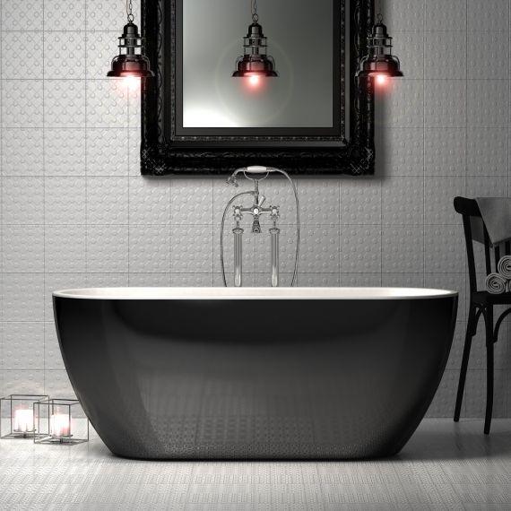 Charlotte Edwards Belgravia Gloss Black 1690x730 Freestanding Bath Tub CE11027-GB