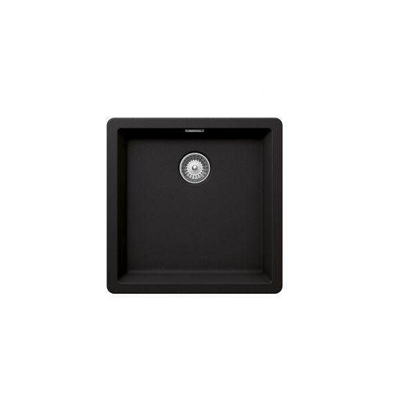 Rangemaster SCHOCK Brooklyn Cristalite Granite Undermount Sink 456mm Nero