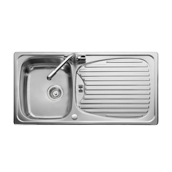 Euroline Stainless Steel Inset Kitchen Sink Satin