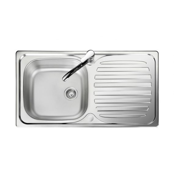 Linear Budget Stainless Steel Inset Sink 1 Bowl Satin