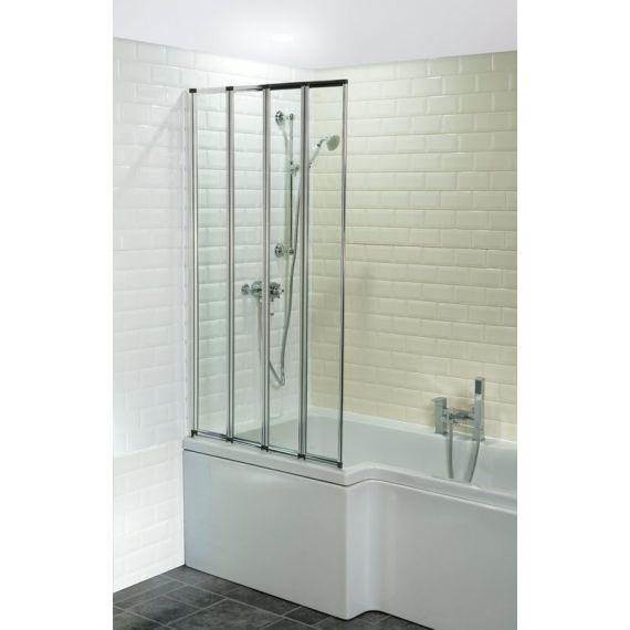 Four-Fold Framed Bath Screen 1400 mm x 800 mm CEF001