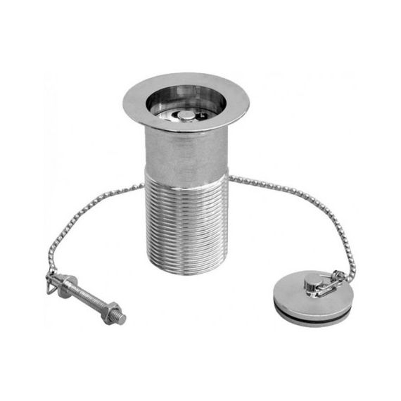 "1 1/4"" Traditional Unslotted Plug & Chain Basin Waste Chrome"
