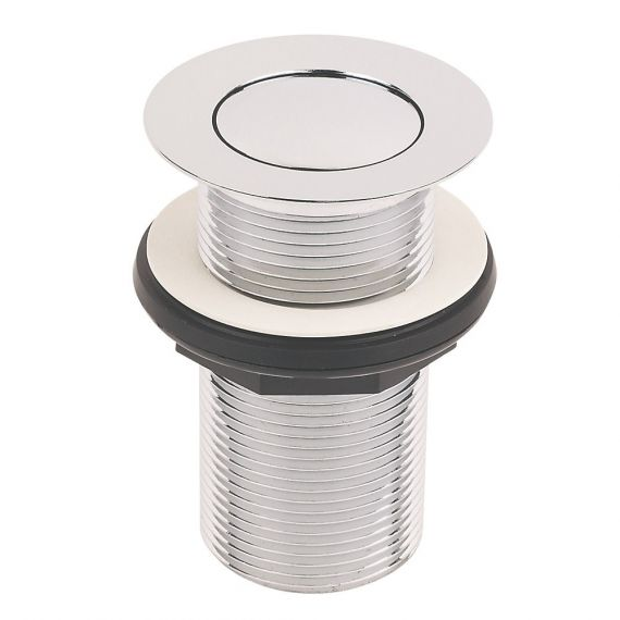 """1 1/4"""" Chrome Unslotted Push Button Clicker Basin Waste"""