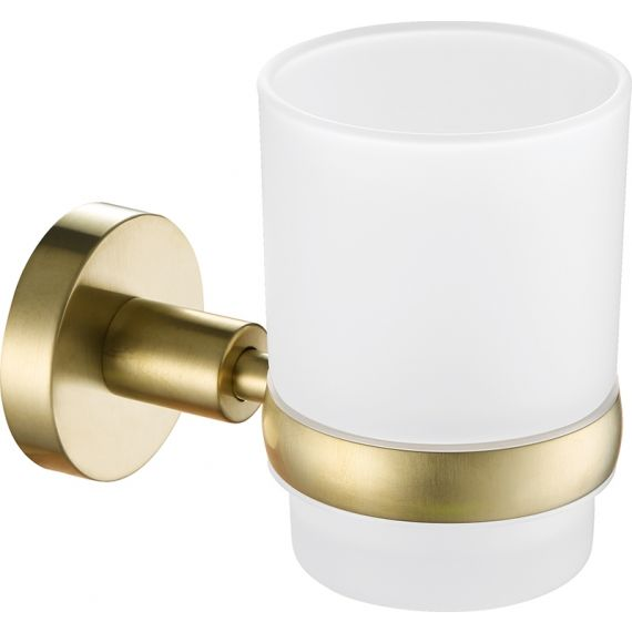 VOS brushed brass tumbler holder
