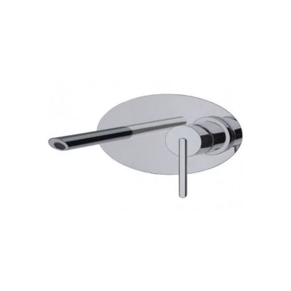 JustTaps Ovaline Concealed Wall Mounted Basin Mixer With Spout 2618231