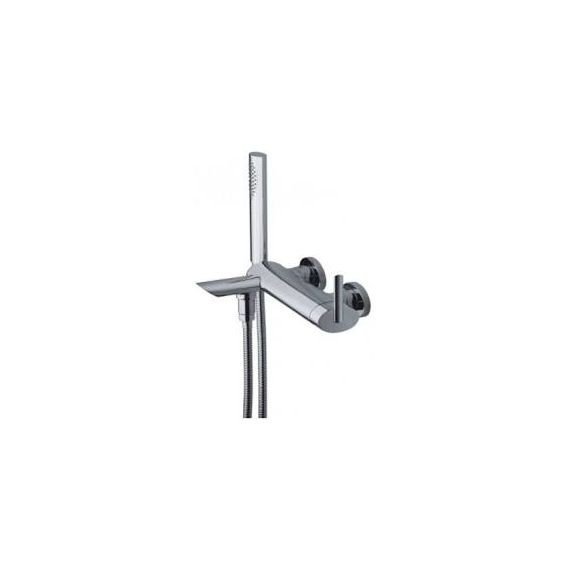 JustTaps Ovaline Wall Mounted Bath Shower Mixer With Kit 2618267