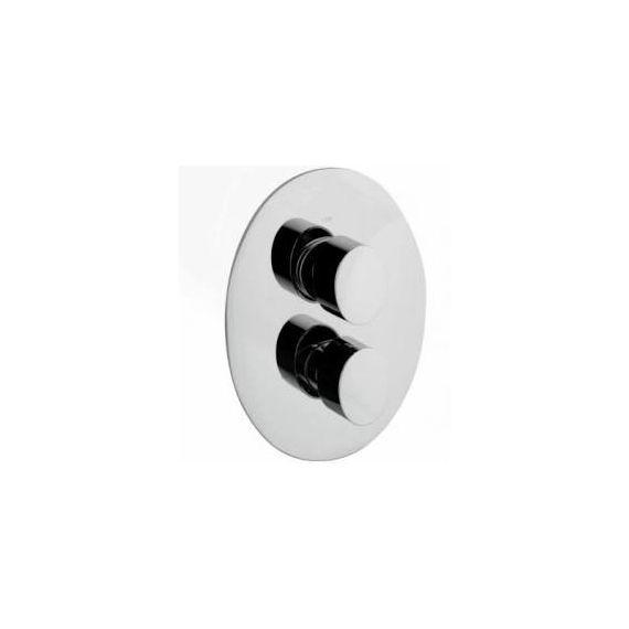 JustTaps Ovaline Concealed 1 Outlet Thermostatic Vertical Shower Valve 2618651
