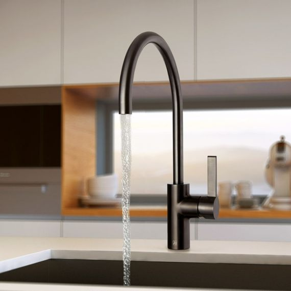 Just Taps Brushed Black Single Lever Kitchen Sink Tap