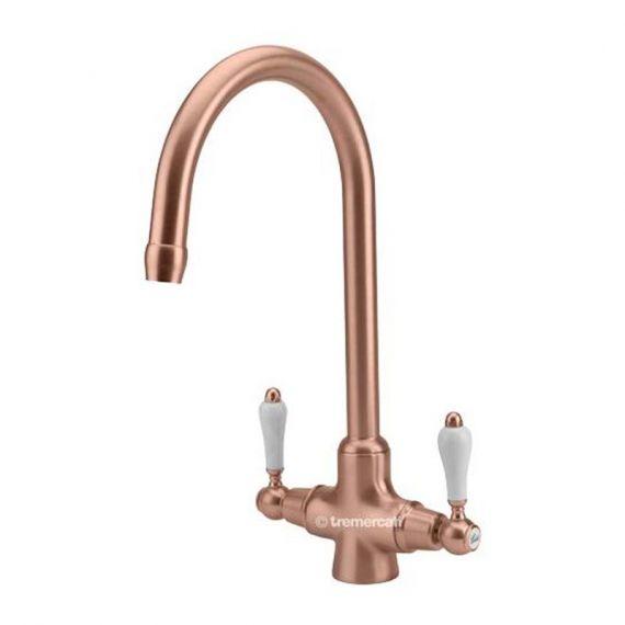 Tre Mercati Little Venice Kitchen Mixer Tap Copper 285