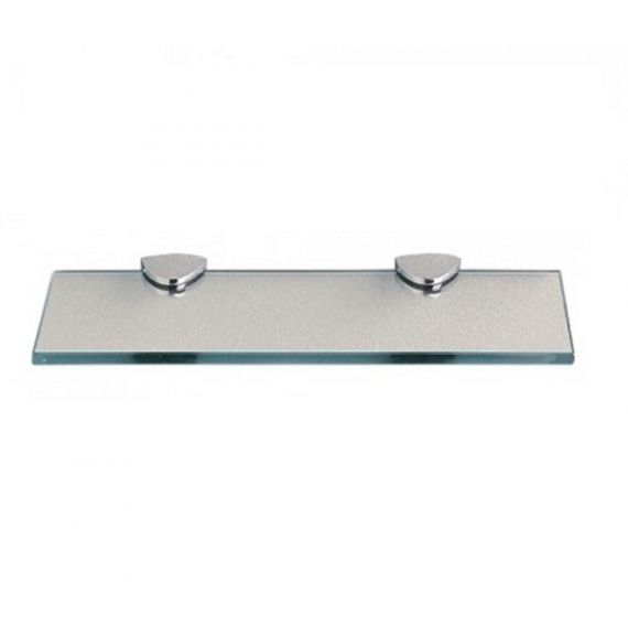 Miller Classic Frosted and Clear Glass Shelf
