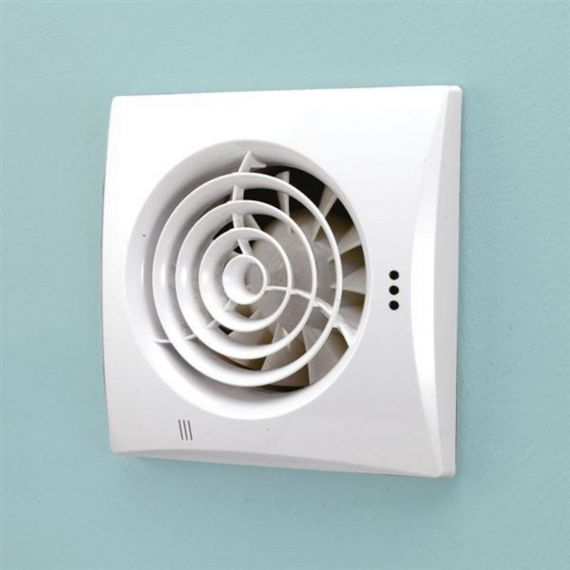 HIB Hush White Wall Mounted Extractor Fan with Timer 31500