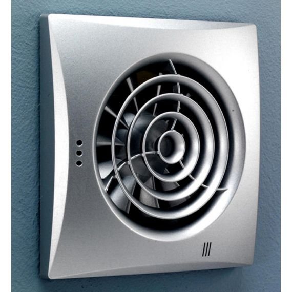 Hush Silver Wall Mounted Extractor Fan