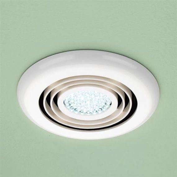 HIB turbo Inline Fan LED Light White