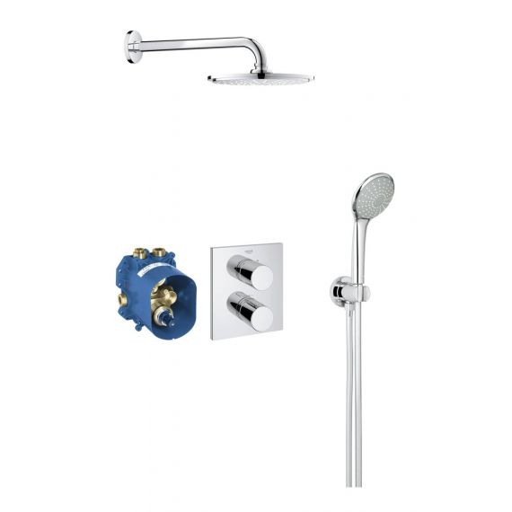 Grohe 34408000 Chrome Grotherm 3000 Cosmopolitan Shower Set