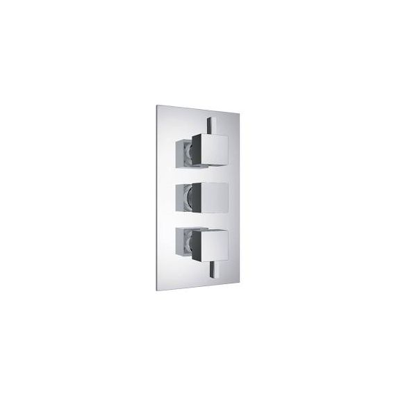 JustTaps Athena Square thermostatic Concealed 2 Outlet Shower Valve 35690