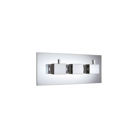 JustTaps Athena Square thermostatic Concealed 4 Outlet Horizontal Shower Valve 35695