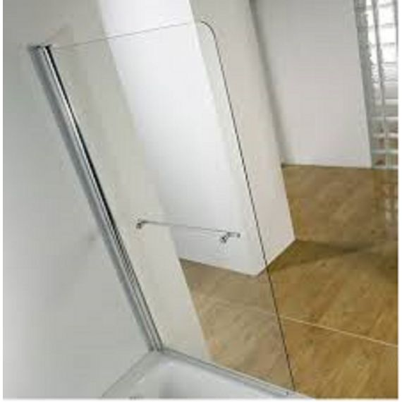 Kudos Single panel bath screen 8mm with towel rail
