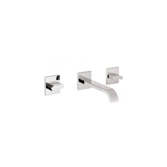 JustTaps Leo 3 Hole Wall Mounted Basin Mixer Chrome 45089A