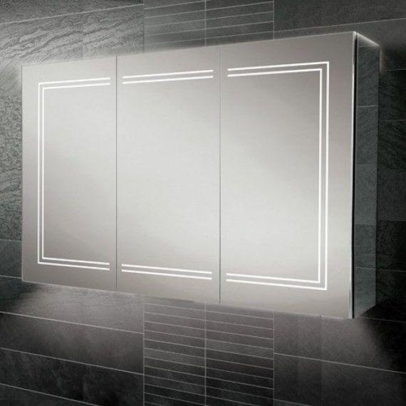 HiB Edge 120 LED Aluminium Demisting Mirror Cabinet 49700