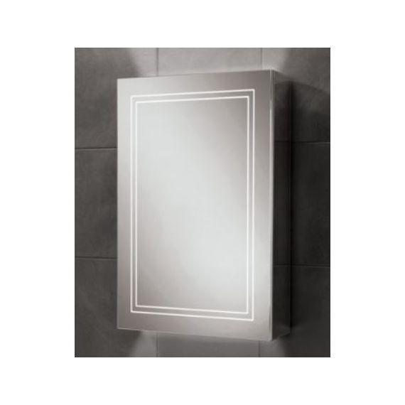 HiB Edge 50 LED Aluminium Demisting Mirror Cabinet 49400
