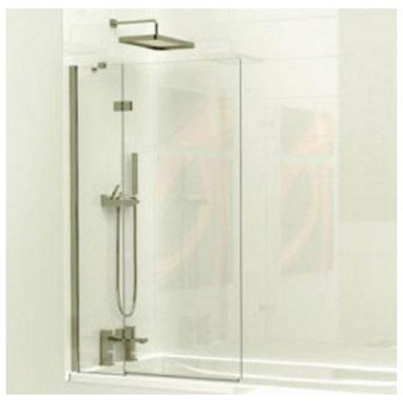 Kudos 2 Panel inward swinging bath screen 6mm (right hand) with towel rail