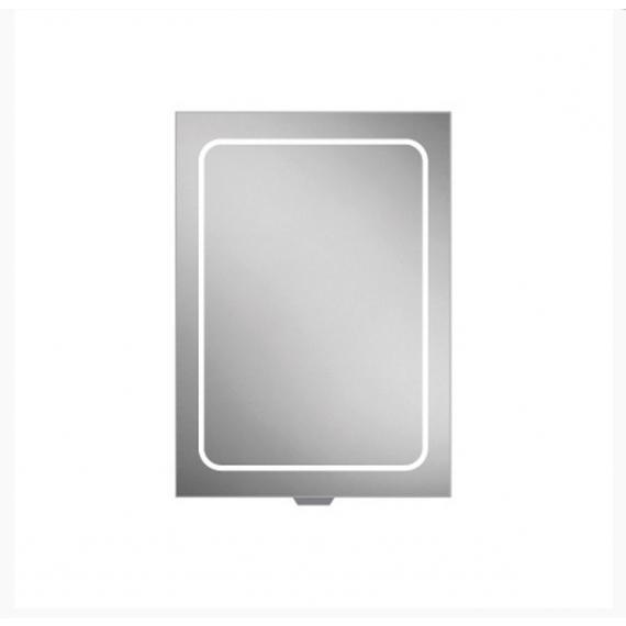 HiB Vapor 50 LED Aluminium Demisting Mirror Cabinet 51400