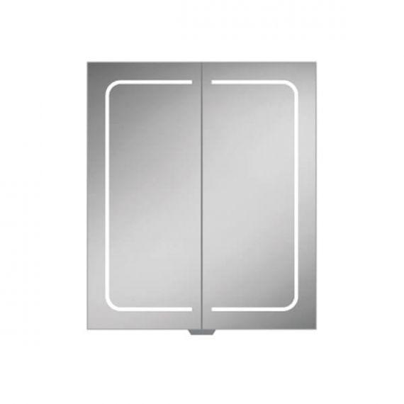HiB Vapor 60 LED Aluminium Demisting Mirror Cabinet 51500