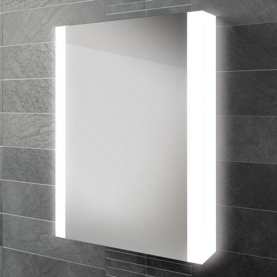 HiB Paragon 50 LED Demisting Aluminium Mirror Cabinet 51800