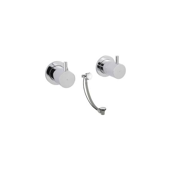 JustTaps Florence Wall Valves With Exofill Chrome 55089A6