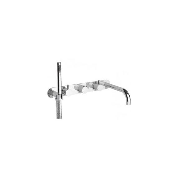 Florence Horizontal Thermostastic Valve with Bath Spout And Attached Shower 56577