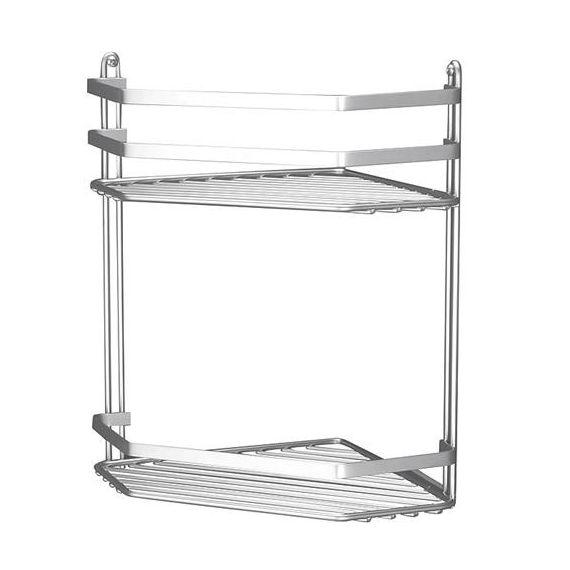 Euroshowers Satina Bathroom Storage Basket Double Corner 57590