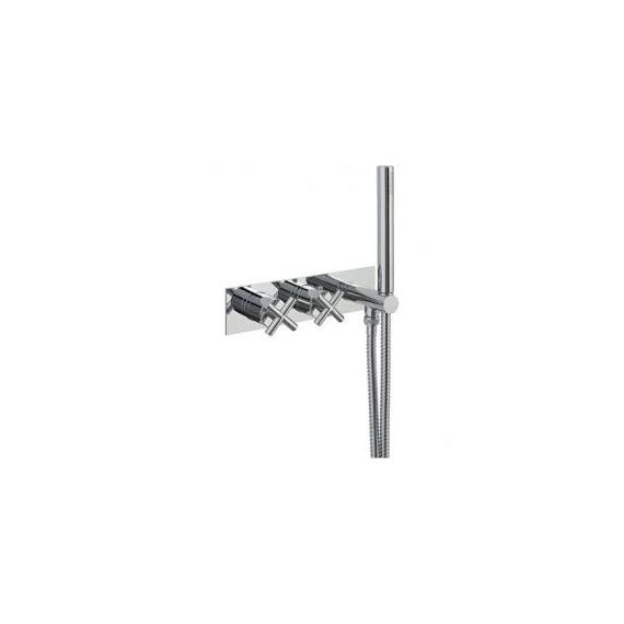 JustTaps Solex Thermostatic Concealed 1 Outlet Shower Valve With Attached Handset 65869