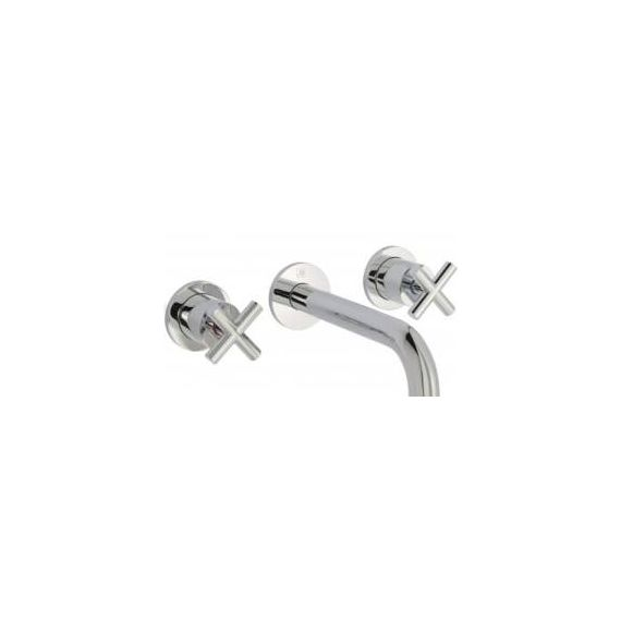 JustTaps Solex 3 Hole Wall Mounted Basin Mixer Chrome 66089A