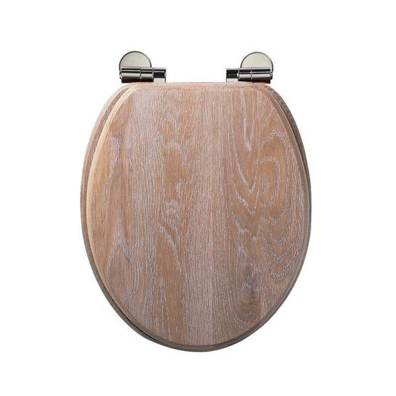 Roper Rhodes Limed Oak Traditional Solid Wood Toilet Seat 8081LISC
