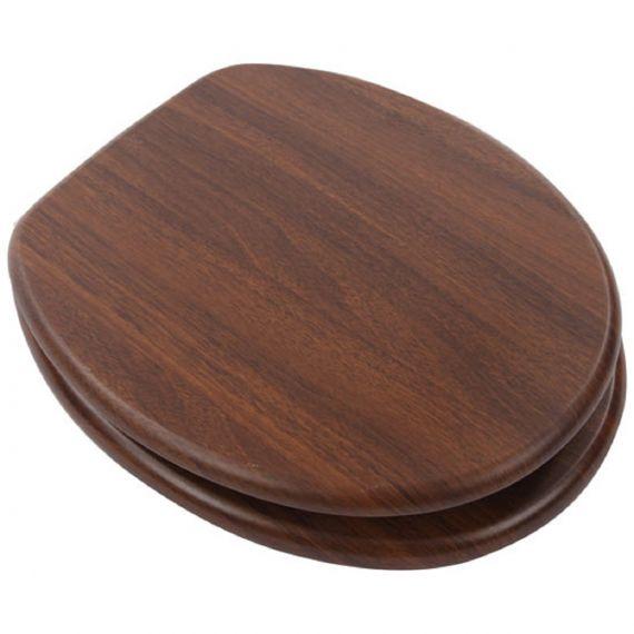 Walnut Wood Toilet Seat 82984