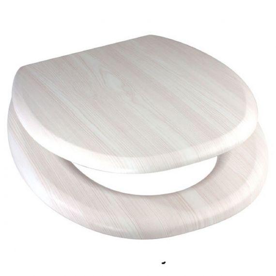 White Ash MDF Wood Toilet Seat