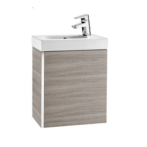 Roca Mini 450mm Basin Unit with Basin Textured Grey 855873156