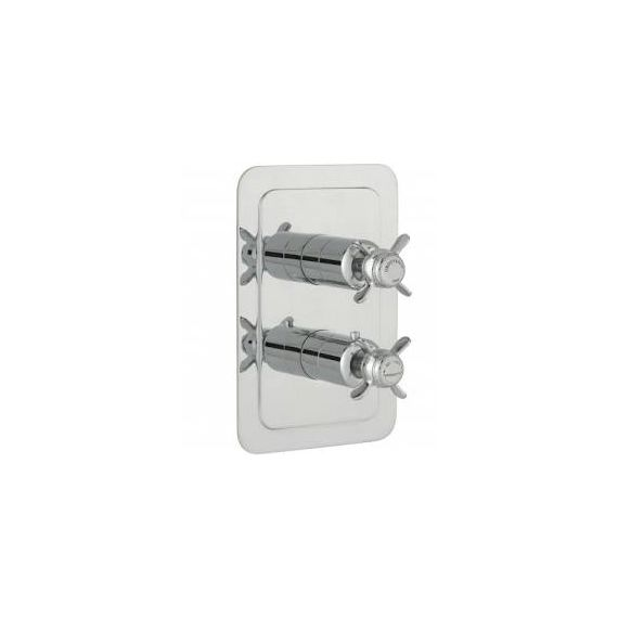 JustTaps Grovesnor Chrome Pinch Thermostatic Concealed 1 Outlet Vertical Shower Valve 98651