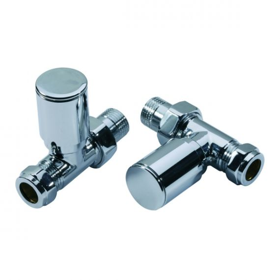 Modern Straight Radiator Valves Contemporary Chrome