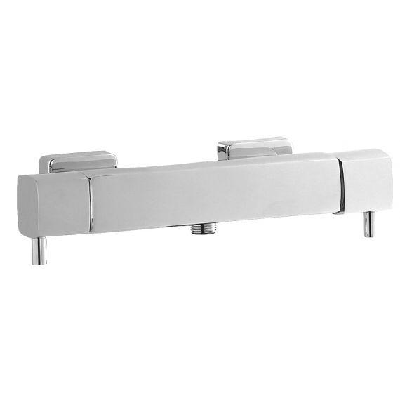 Hudson Reed Quadro Thermostatic Bar Valve Bottom Outlet