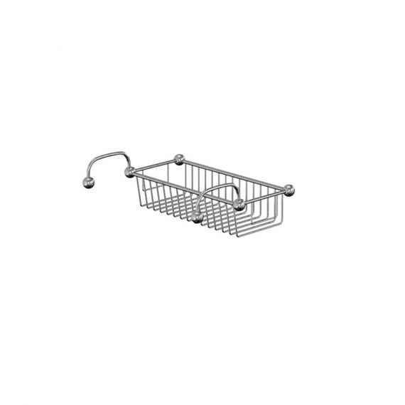 Burlington Traditional Bath Wire Basket Rim Mounted Chrome