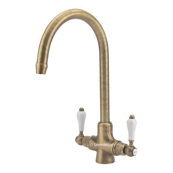 Tre Mercati Little Venice Kitchen Tap Brass