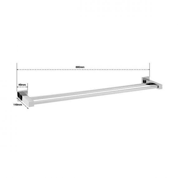 Sagittarius Siena Double Towel Rail 560x110mm AC/729/C