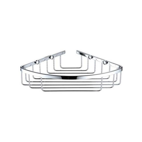 Heritage 200 x 200mm Corner Chrome Wire Basket ACOB02C