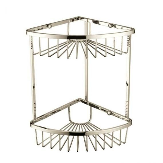 Heritage 200 x 200mm Corner 2 Tier Vintage Gold Wire Basket