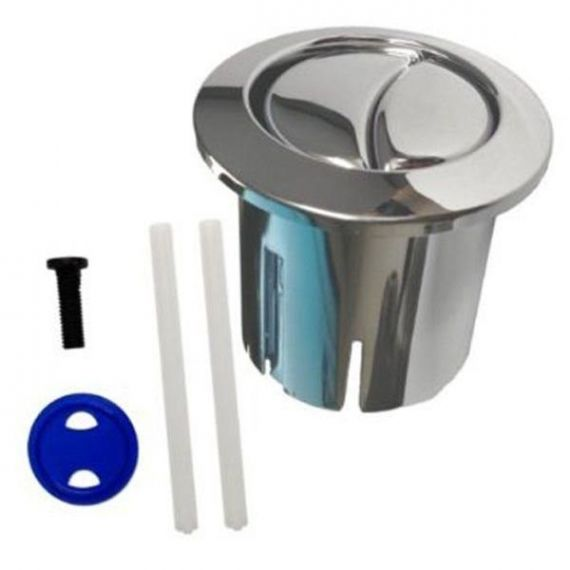 Roca D1D Old Style Short Dual Flush Chrome Toilet Push Button AH0002100R