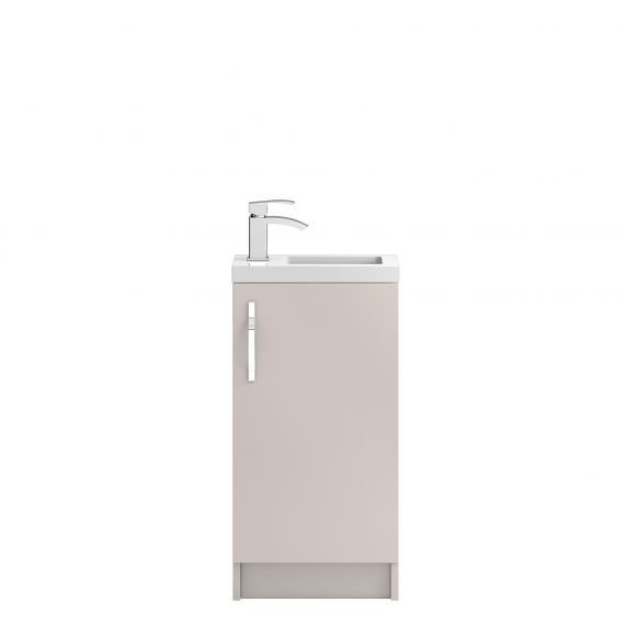 Hudson Reed Apollo Cashmere Compact Floor Standing 400mm Cabinet & Basin