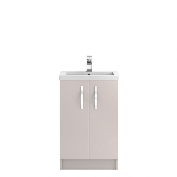 Hudson Reed Apollo Cashmere Floor Standing 500mm Cabinet & Basin