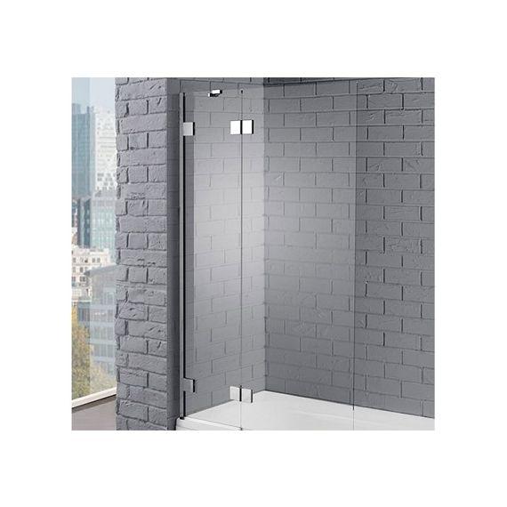 Aquadart Venturi 8mm Silver Hinged Bath Screen 1500 x 1000 AQ6002